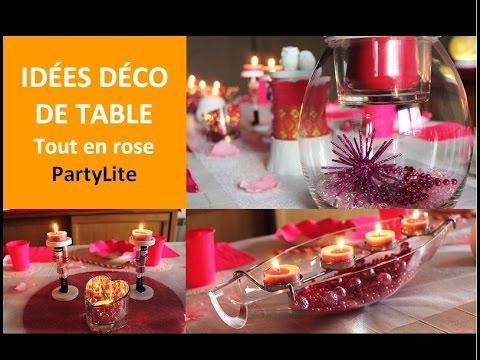 Idées déco de table tout en rose - Cécile Cloarec