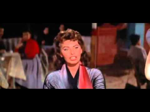 "Sophia Loren Singing and Dancing Greek; Scene from ""Boy on a Dolphin"""