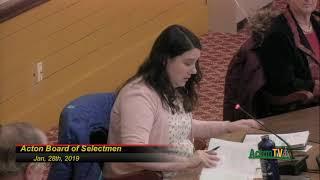 Board of Selectmen 1- 28 -2019