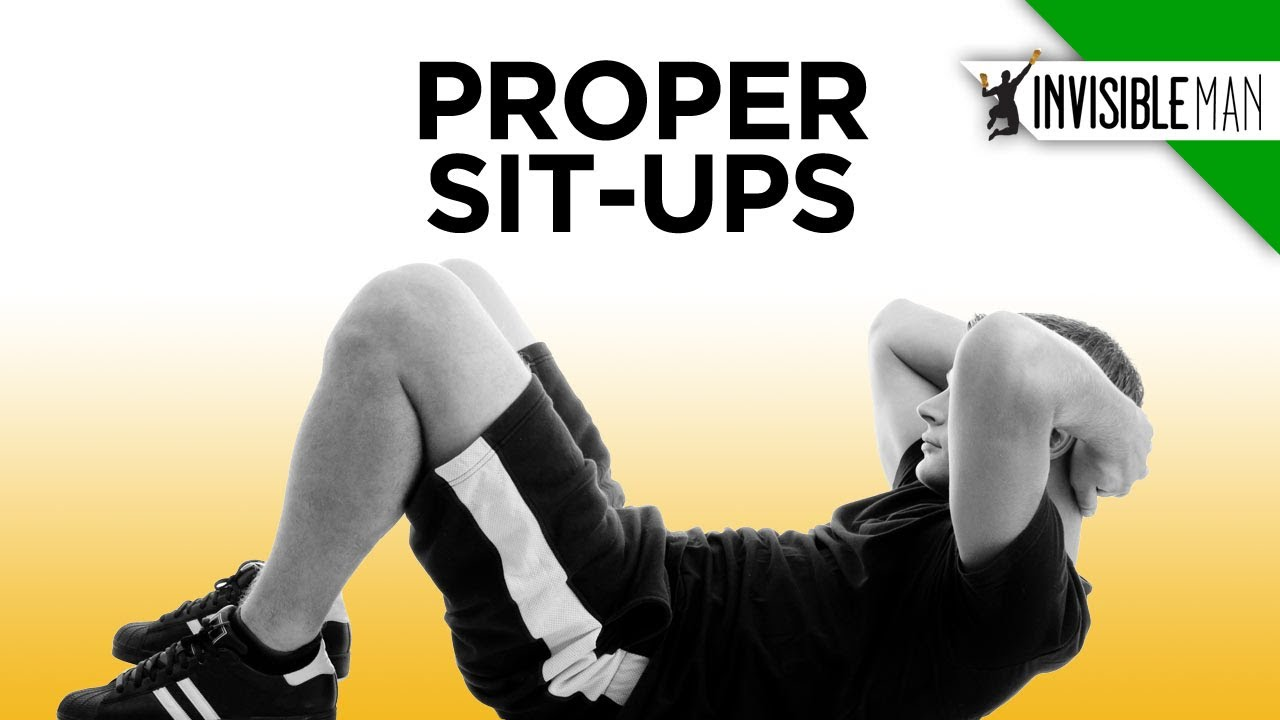 Learn to do a Proper Sit-Up - Invisible Man Presents - YouTube