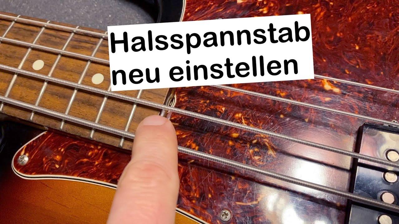 bass hals einstellen