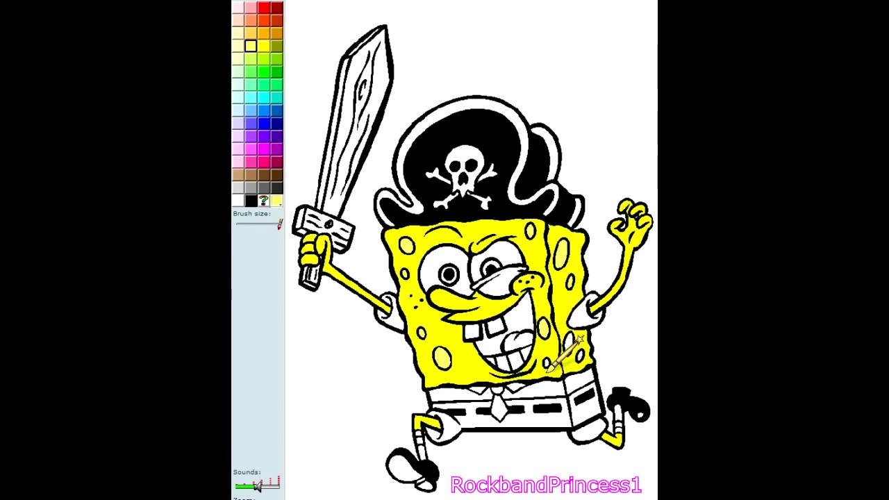 Spongebob Coloring Book Game Spongebob Pirate Nick Jr Coloring ...