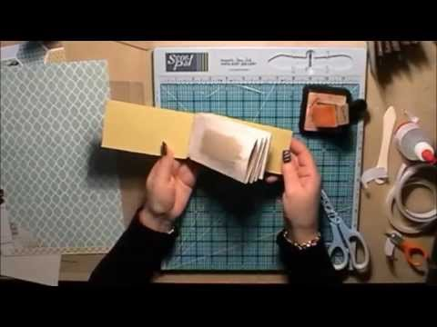 Toilet Roll Mini Scrapbook Album Tutorial With A Hinge System
