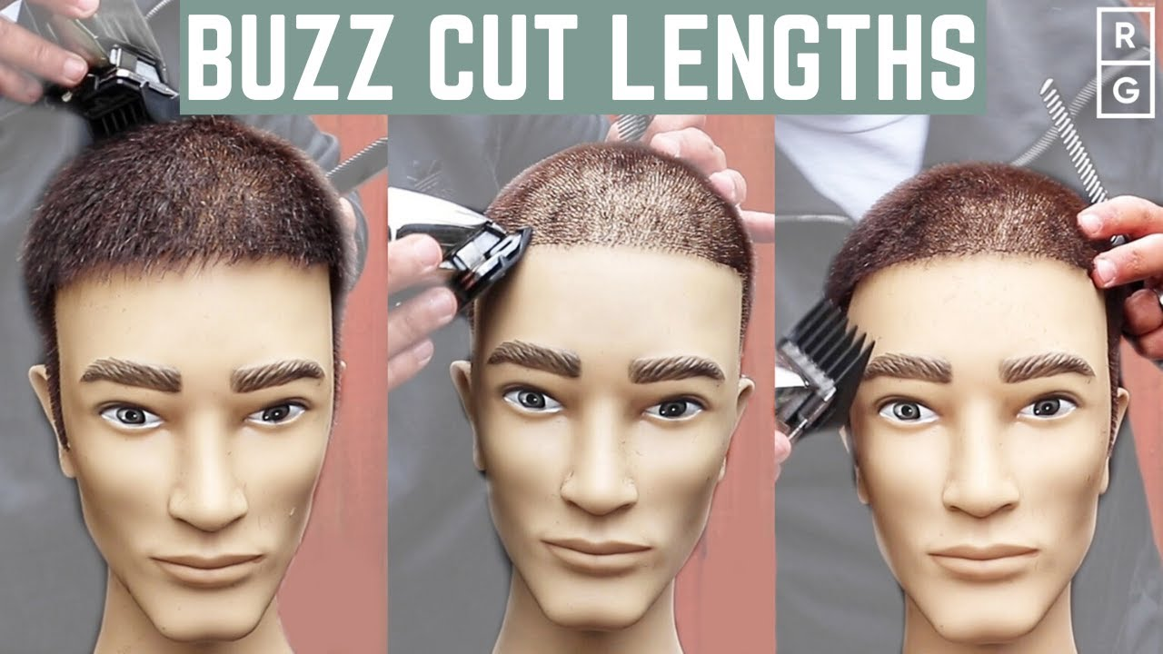 Buzz Cut Lengths Guide - Number 122 to Number 12 Buzz Cut