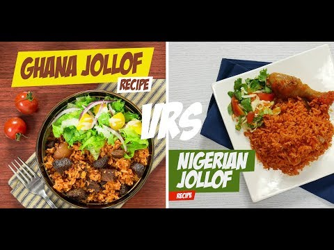 How To Make Both Ghanaian & Nigerian Jollof (Side By Side Video)
