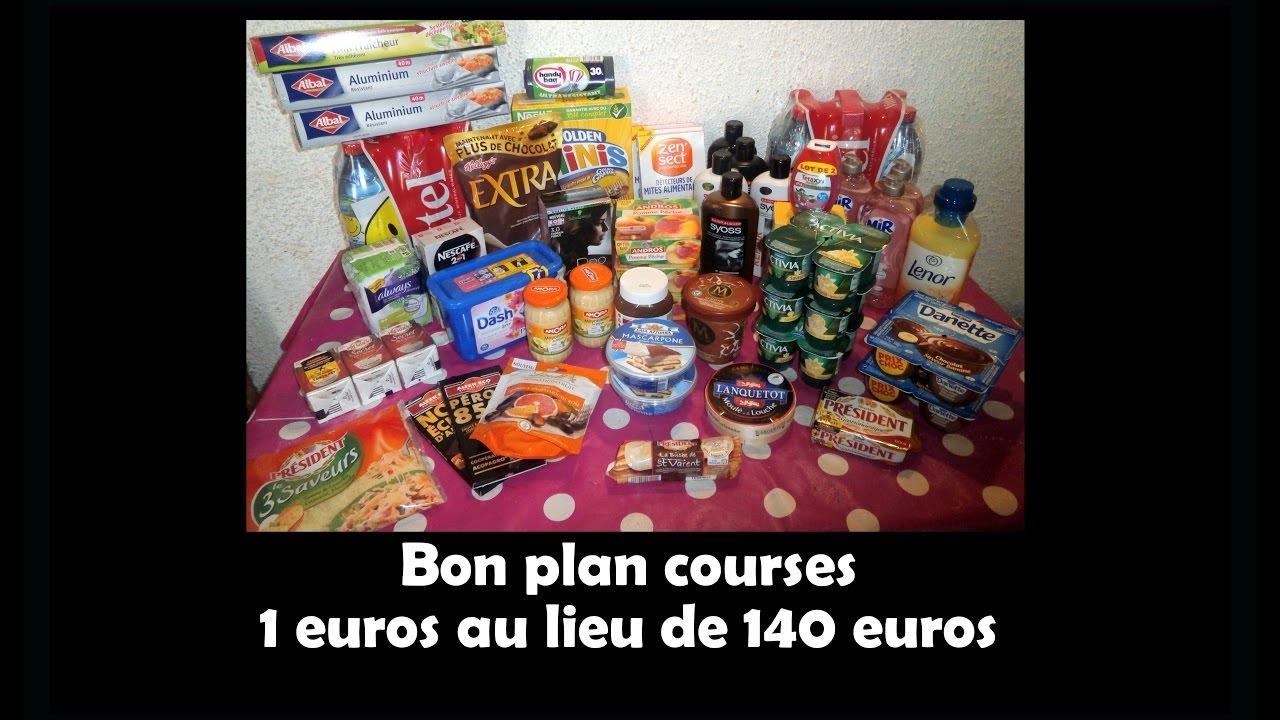 Bon Plan Courses 1 Au Lieu De 140 Carrefour Youtube