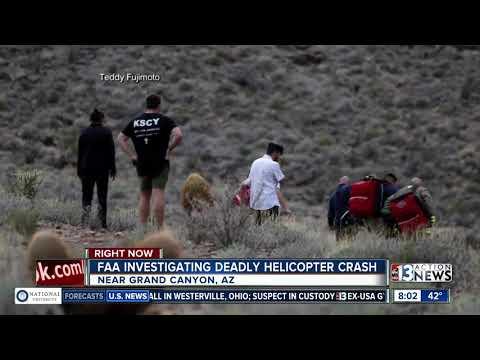 Survivors of Grand Canyon helicopter crash flown to Las Vegas