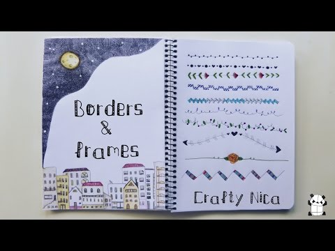 BORDERS and FRAMES DESIGNS 2. Borders for cards, school projects & planner decoration ideas