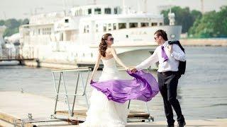 Красивая Свадьба на теплоходе. Свадьба в Москве.