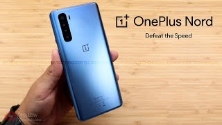 Oneplus nord official first hands-on look and it looks stunning. this is the silver blue color which has 4 cameras on back really good. there's ...