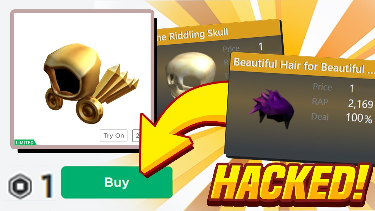 Get A Roblox Limited Item For 1 Robux Roblox Got Hacked This Is