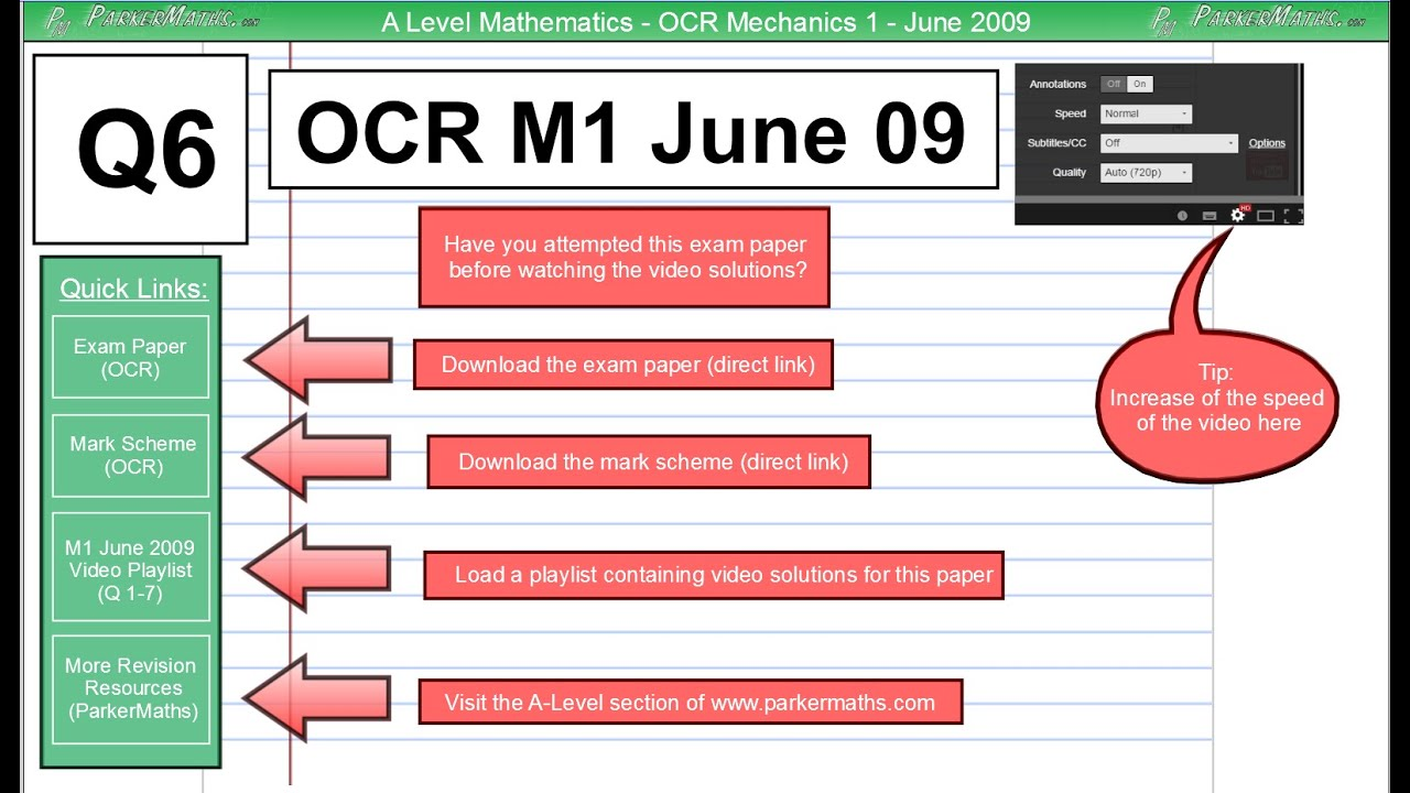 Mei m1 june 2013 mark scheme mei conference 2018 array ocr mechanics 1 june 2009 q6 a level maths youtube rh fandeluxe Image collections