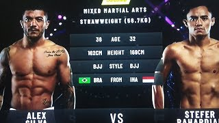 INDONESIA VS BRAZIL #MMA(MIXED MARTIAL ARTS) ALEX 🇧🇷 VS STEFER 🇮🇩