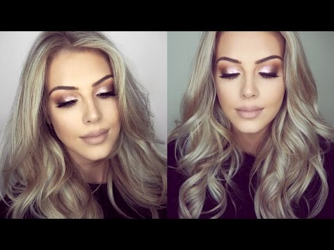 Festive Glitter Eye Makeup & Hair Tutorial