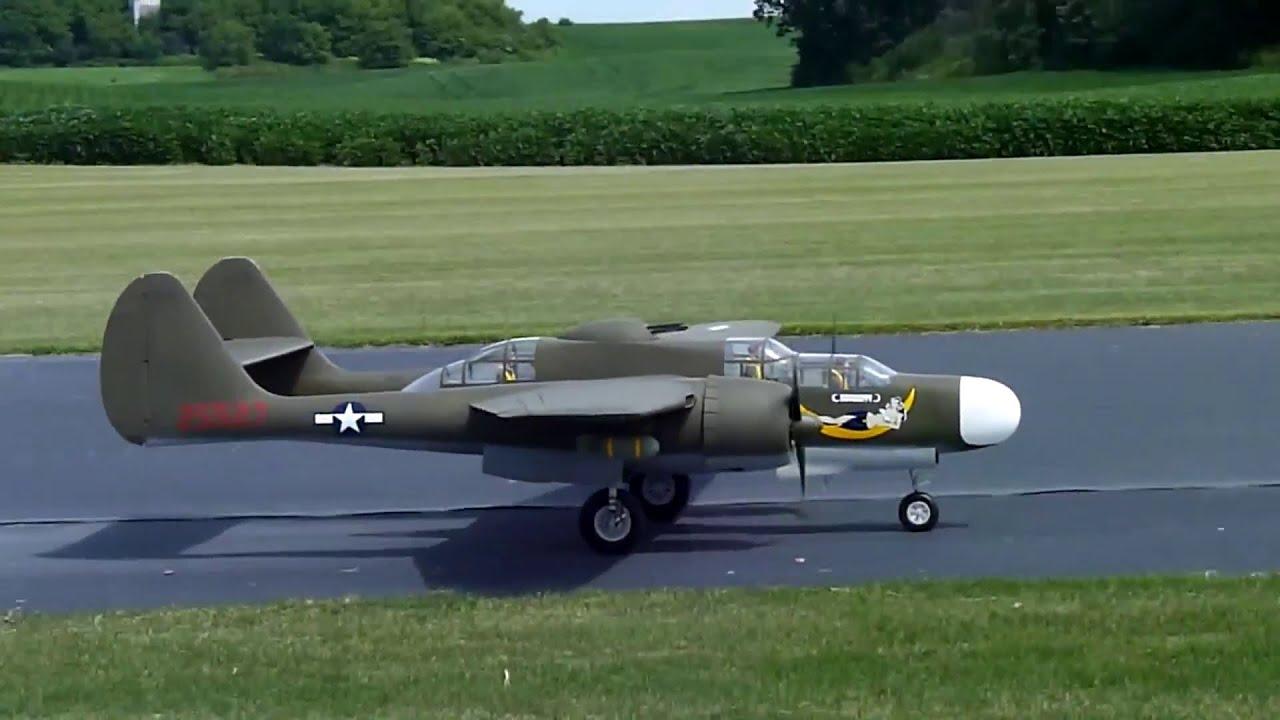 Huge p 61 black widow da 100 engines namfi 2011 smmac youtube