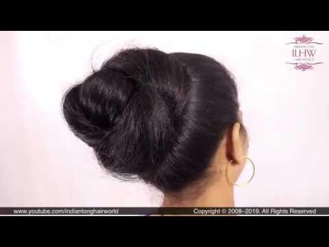 Desi Style Knot Hair Bun Hairstyle Tutorial | Desi Juda | Marathi Ambada| Khopa Hairstyle | Hair ...