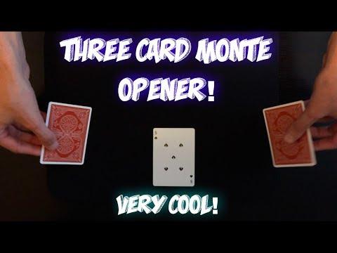 IMPROMPTU 3 Card Monte Opener! Fun Card Trick Performance And Tutorial