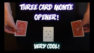 IMPROMPTU 3 Card Monte Opener! Fun Card Trick Performance And Tutorial