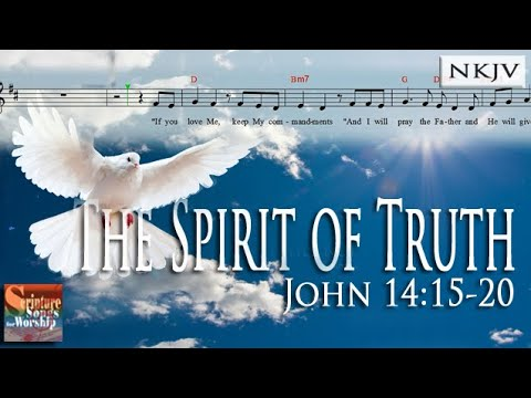 John 14:15-18 Song (Music Score Video)