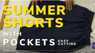 DIY Make Shorts with side pockets & patch pocket, with elastic ...