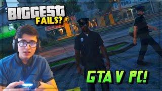 GTA 5 BIGGEST FAIL EVER? & GTA 5 PC Gameplay Trailer Coming Soon! (HD 60FPS)