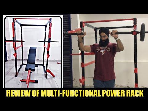 MULTI-FUNCTIONAL POWER RACK | Complete Small Gym Setup Rack Machine