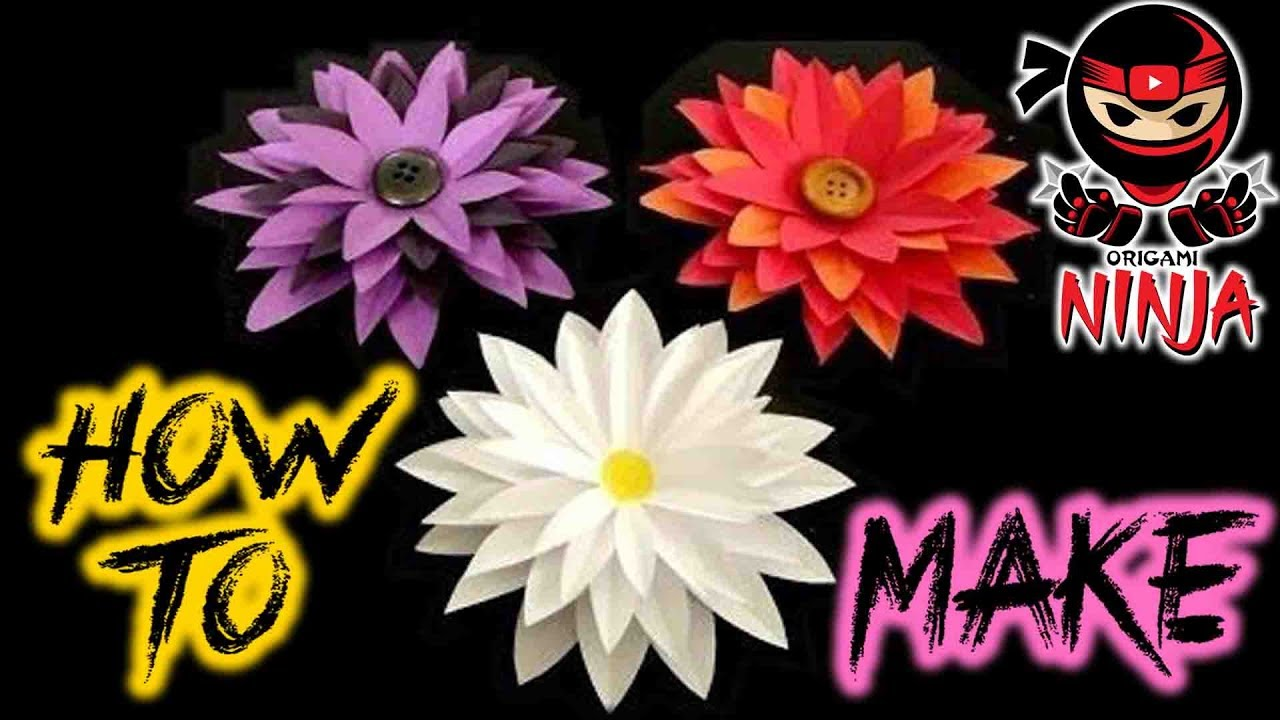 How To Make Paper Flower Tutorial New Improved Tutorial In Link