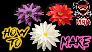Repeat youtube video How to make: Paper Flower Tutorial