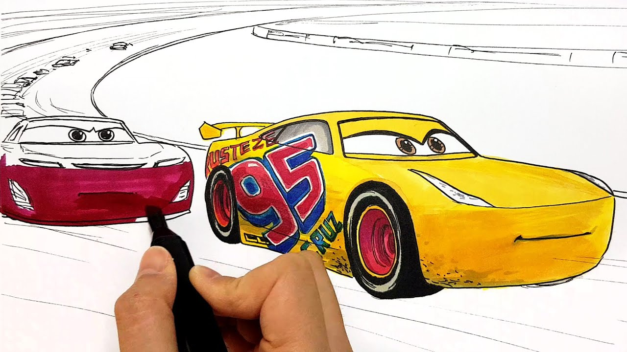 How To Draw Cruz Ramirez Rust Eze 95 In Cars 3 Drawing And