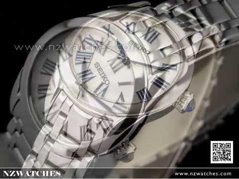 Seiko Silver Roman Numerals Ladies Watches SRZ383P1. NZwatches 8f4e31d0ff
