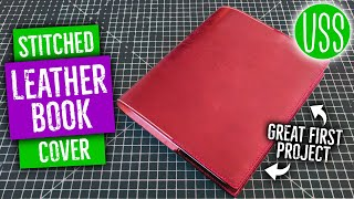 How to Make a Stitched Leather Book Cover