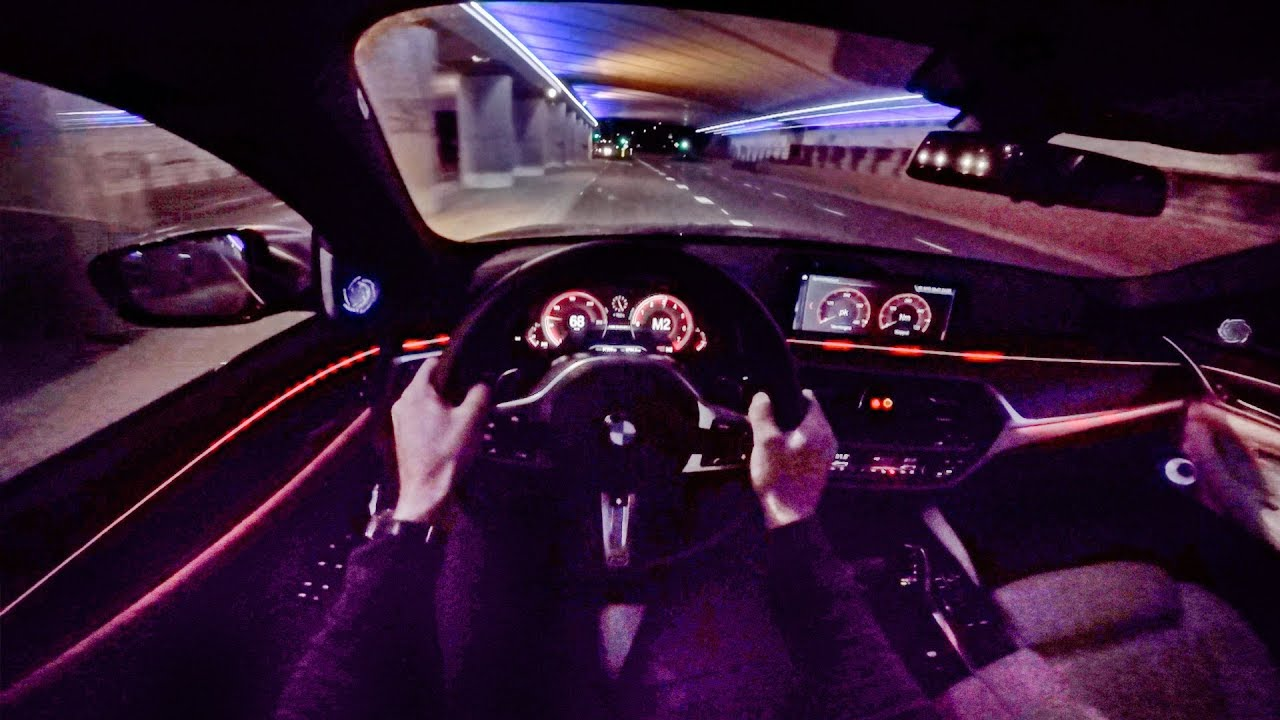 2018 Bmw 5 Series M550i Xdrive Night Pov Drive By Autotopnl Youtube