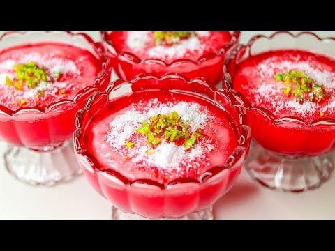 Mahalabia Recipe | Arabic Dessert | Malabi Pudiing | Muhallebi Recipe | Milk Pudding Recipe | Yummy