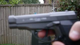 M84 .177 cal 4.5mm Steel BBs CO2 Pistol testing