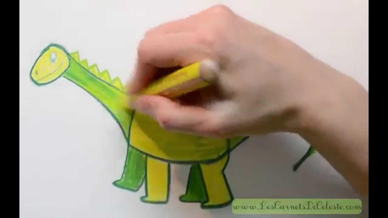 Comment dessiner un dinosaure youtube - Dessiner dinosaure ...