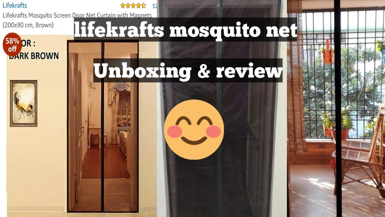 lifekrafts mosquito screen door net curtain with magnet unboxing and review
