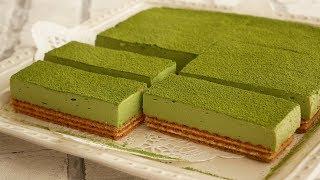 春先に食べたい♡ほろ苦抹茶のレアチーズケーキ |  NO-BAKE Matcha cheesecake