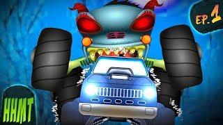Haunted House Monster Truck | Police Monster Truck | Ep#01