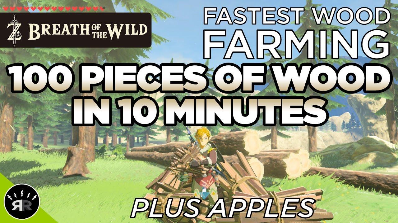 Zelda: Breath of the Wild - FASTEST WOOD FARMING - Farm 100 Wood in 10  minutes (Be a lumberjack!)