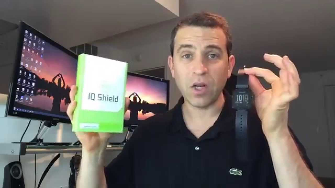 IQ Shield Screen Protector For The Garmin Vivoactive Smart Watch ... 464e495bc9b