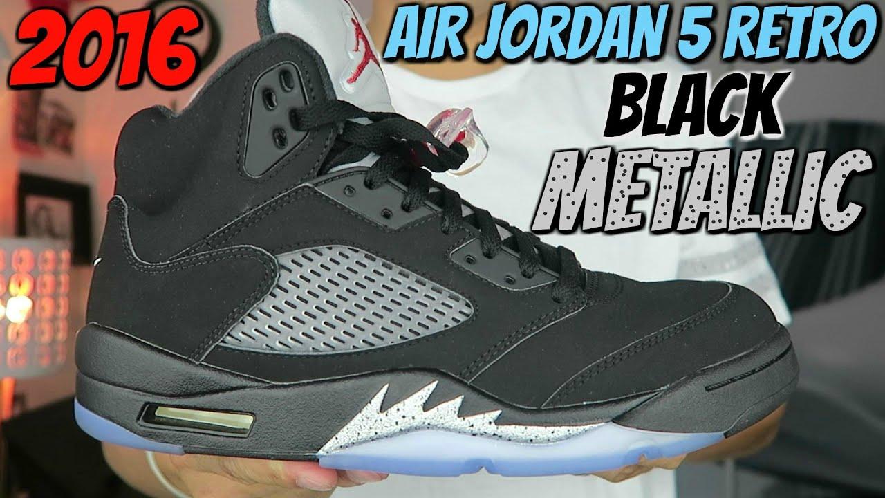 7184572bc616ca AIR JORDAN 5 RETRO - BLACK METALLIC (2016) - YouTube
