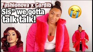 CARDI X FASHION NOVA TRY ON (SIS WE NEED TO TALK)