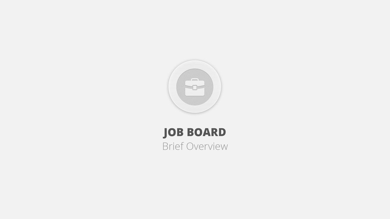 Job Board WordPress Plugin - Brief Overview - YouTube