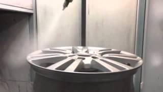 видео Порошковая покраска литых дисков в Москве