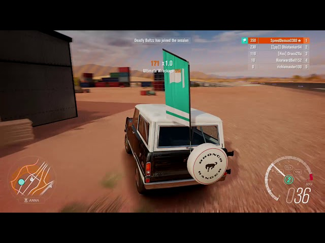 FH3 Flag Rush - Airstrip X-Large in the '75 Ford Bronco (S1-class)
