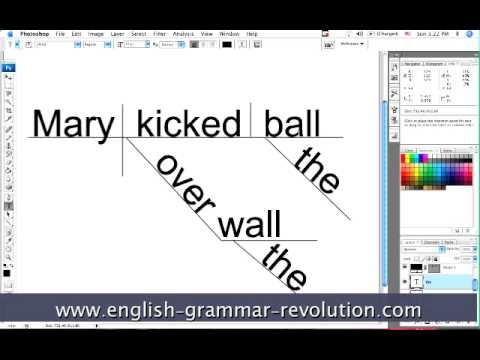 diagramming sentences in photoshop   a tutorial   youtubediagramming sentences in photoshop   a tutorial