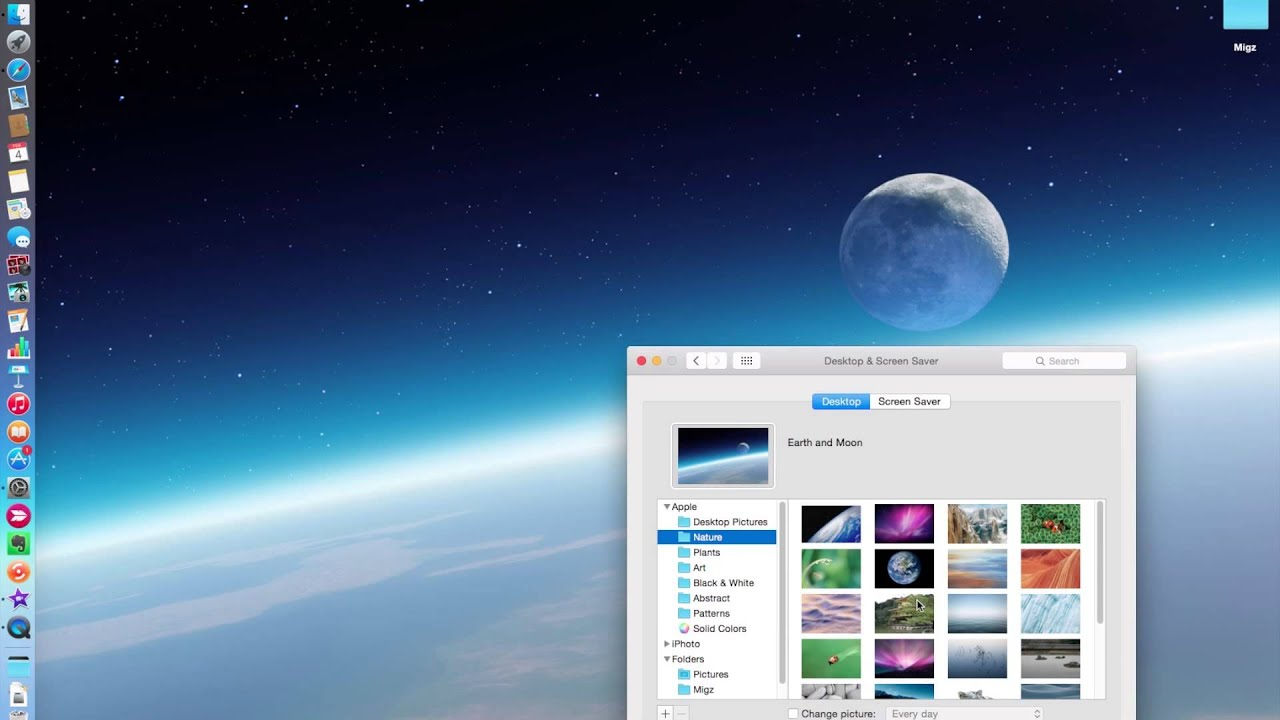 changing desktop background on your mac