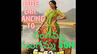 A cute girl dancing Samantha song