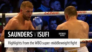 Billy Joe Saunders v Shefat Isufi highlights thumbnail