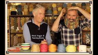Wool, Vogue Knitting & Painting Bricks